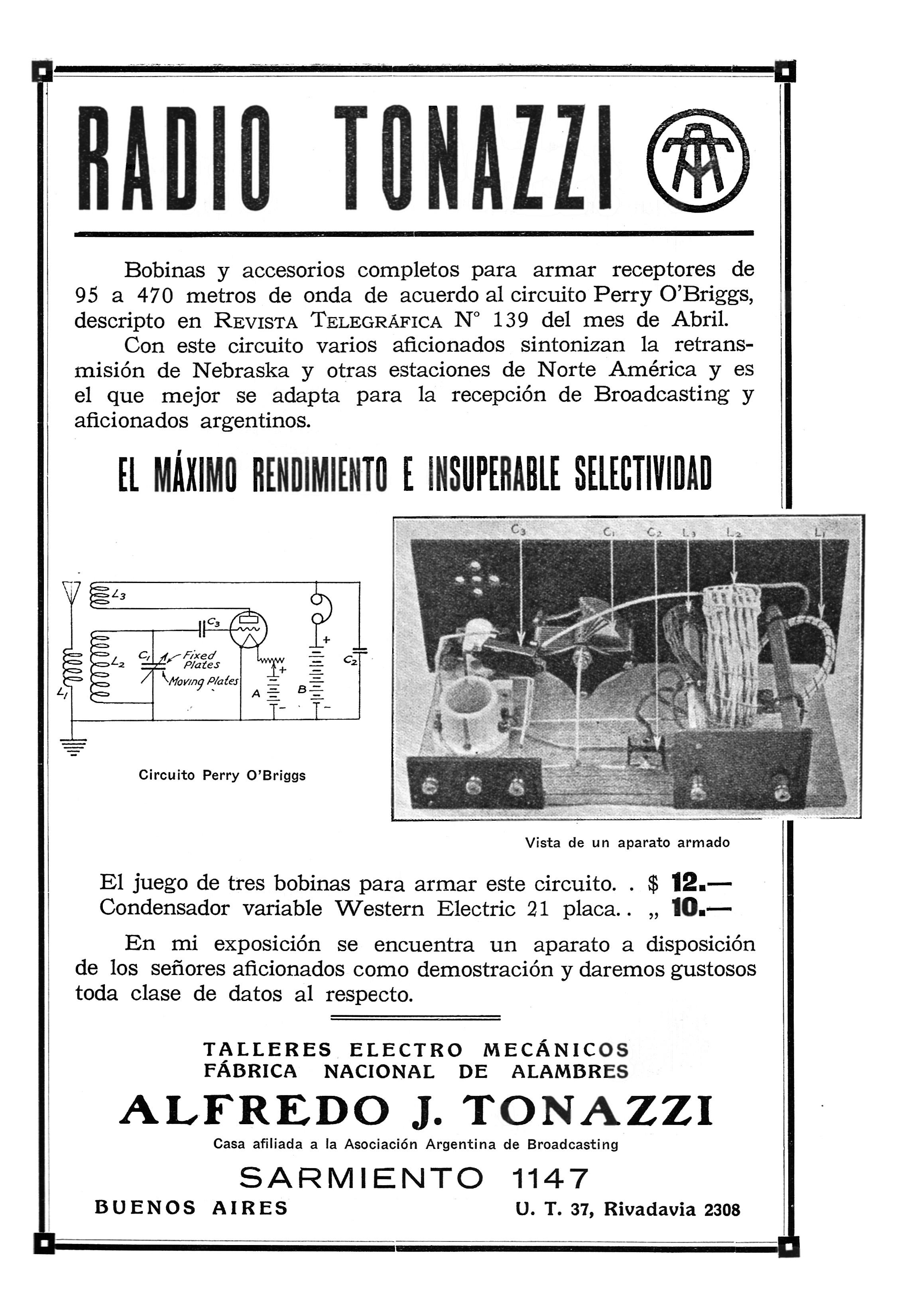 Index Of Content Revista Telegrafica 1924 06 Selectividad Y Q De Un Circuito